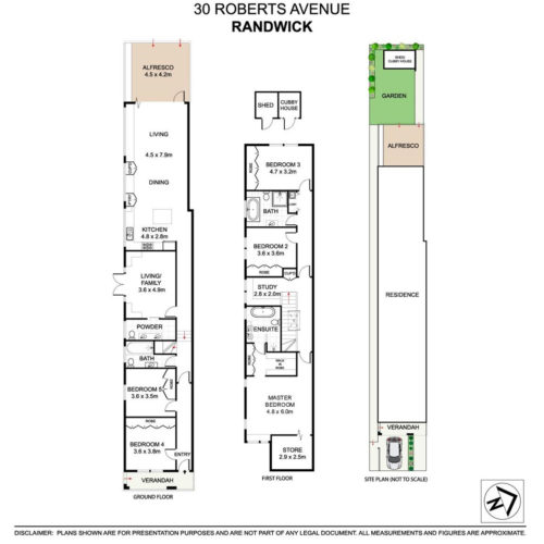 Roberts Ave Randwick - plan